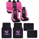 Supergirl Seat Cover and Floor Mats Full Gift Set - Official WB Products