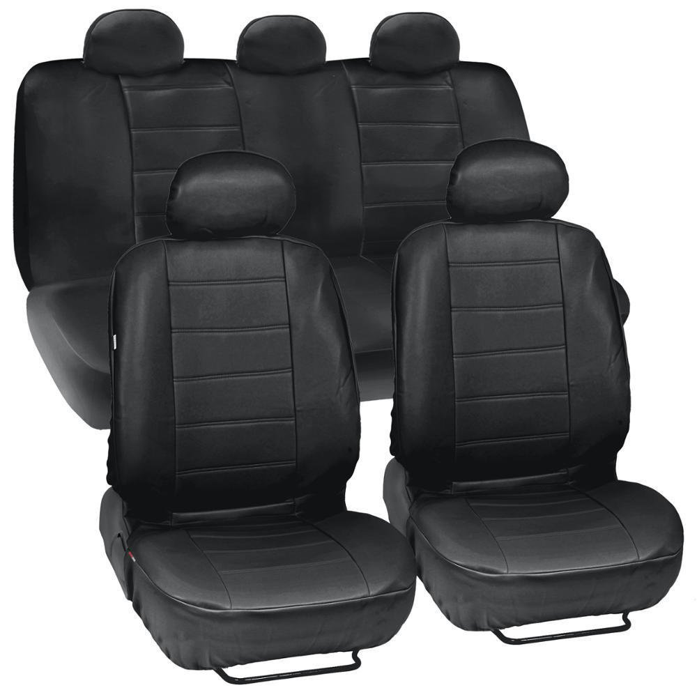 prosyn black leather auto seat covers for kia optima full set car cover. Black Bedroom Furniture Sets. Home Design Ideas