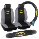 Batman 4 Piece Low Back Seat Cover and Steering Wheel Cover