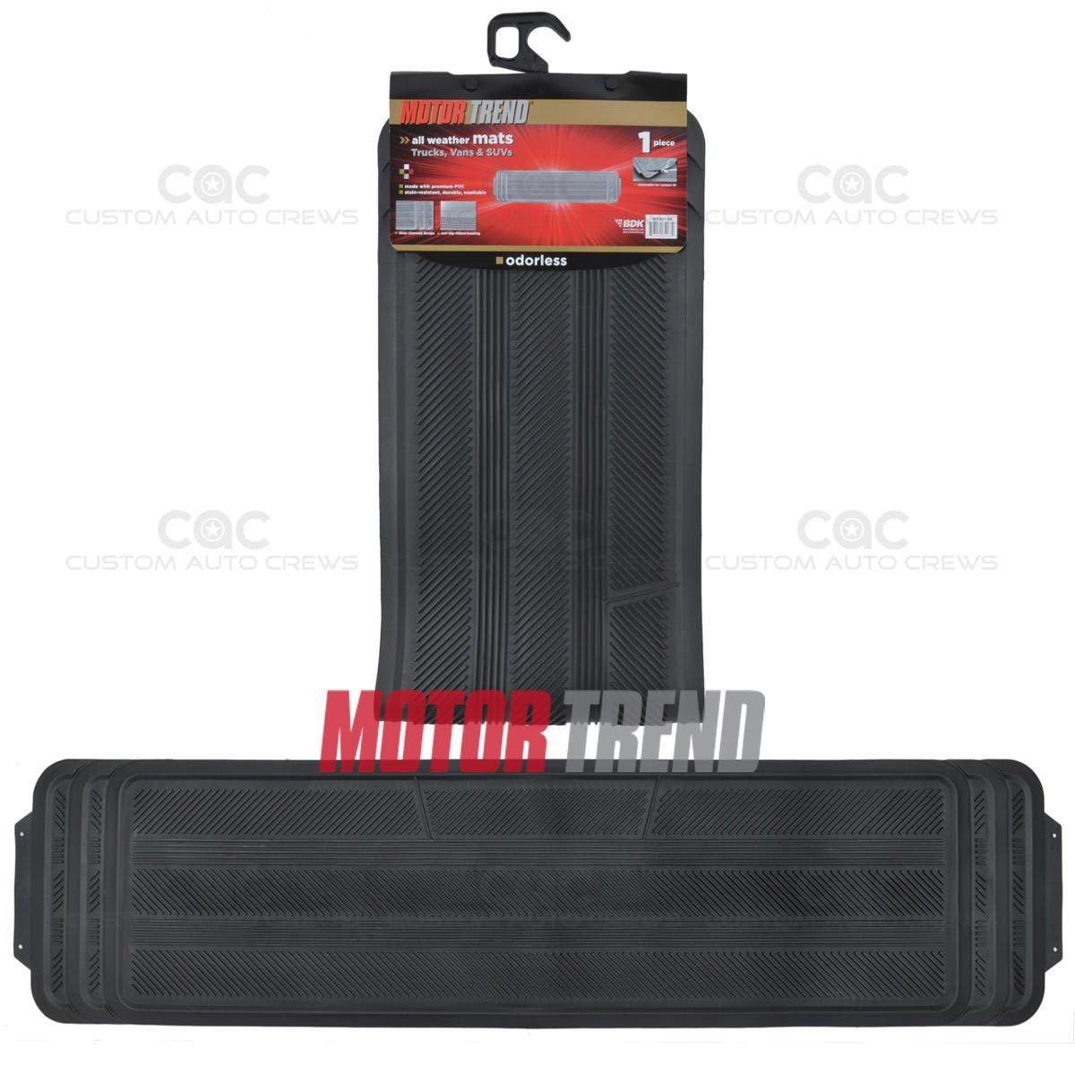 Oem 1 pc black rear rubber heavy duty odorless rubber for 1 piece floor mats trucks