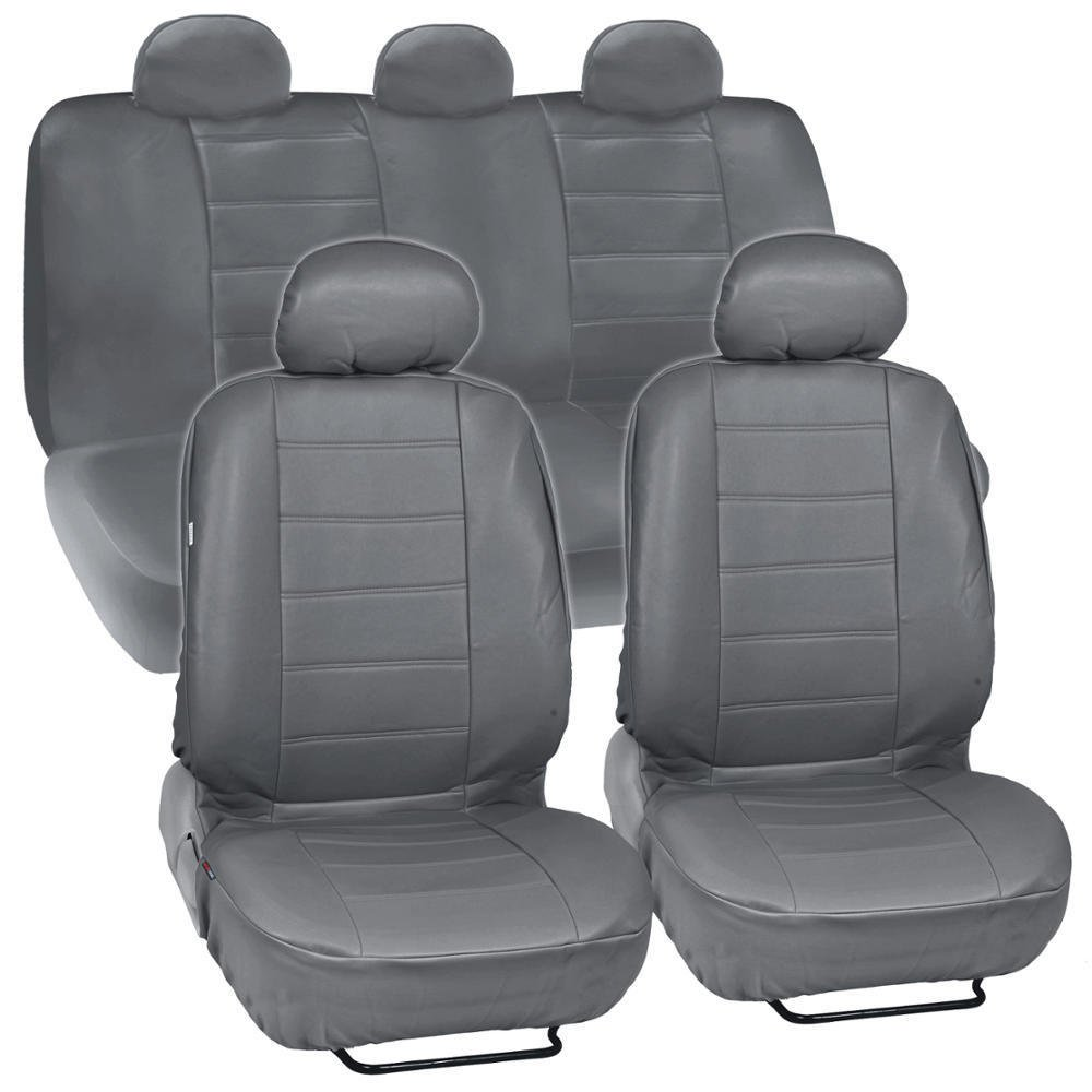 ProSyn Gray Leather Auto Seat Cover For Kia Soul Full Set