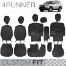 Custom Fit Seat Covers for Toyota 4 Runner 2012 to 2013 Exact Trim Encore Black