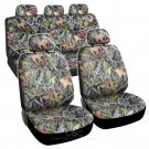 9 Piece Car Truck Seat Cover and Hunting Camo Bucket Seats Full Set