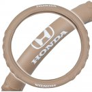 OEM Honda Steering Wheel Cover 13.514.5 Beige Odorless Synthetic Leather Grip