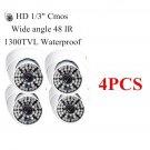 4PCS Wide angle 1300TVL HD 48 IR Home Dome Surveillance CCTV Security Camera OU