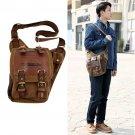 Men's Vintage Canvas Leather Messenger Shoulder Bag Military Travel Satchel