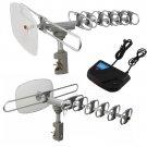 Outdoor 360 Rotation Digital Amplified Antenna TV DTV VHF HDTV UHF HD FM Rotor