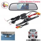 4.3 LCD Monitor Wireless Car Backup Camera Rear View System Night Vision T888