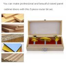 3 Bit Panel Cabinet Door Router Bit Kit 1/2 Inch Shank For Woodworking Tool OY