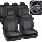 Black Gray Seat Covers for Car SUV Cover Y