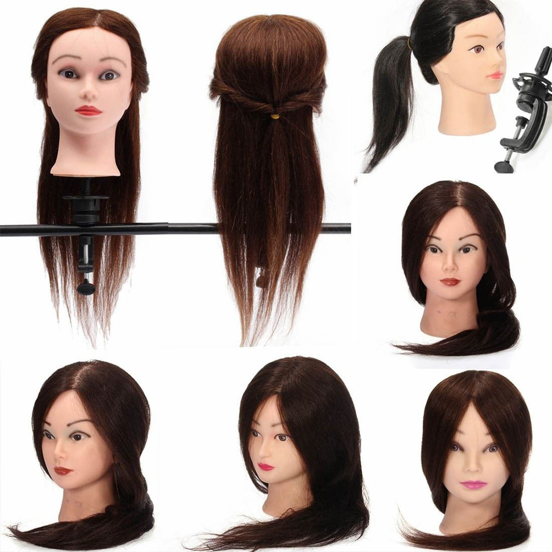 100 real hair hairdressing salon practice training head for Actual beauty salon
