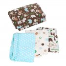 Elephant Animals Soft 4 Piece Baby Crib Bedding Set Quilt Sheet Dust Ruffle OY