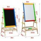 2In1 Kids Art Easel Magnetic Wood Standing Easel Erase Drawing Board ChalkboardY