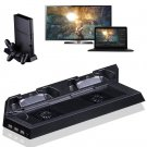 Vertical Stand Cooling Fan with Dual Charger Station for PS4 DS4 Accessories