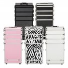 4in1Aluminum Rolling Makeup Train Case Wheel Cosmetic Box Drawer Professional BY