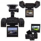 HD 2.0 Dual Lens Car DVR Vehicle Camera Video Recorder Dash Cam G sensor H303 B