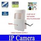 HD 1080P PIR Covert Hidden IP/Network CCTV Spy Camera 3.7MM POE ONVIFI