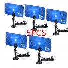 5X Digital Indoor TV Antenna HDTV DTV Box Ready HD VHF UHF Flat Design High Gain