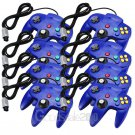 8x Blue Long Handle Controller Game Pad Joystick For Nintendo 64 N64 System OY