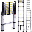 10.5FT Folding Climb Aluminum Telescopic Step Ladder Multi Purpose Extension OY