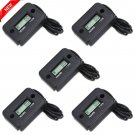5X Digital Hour Meter Gauge For Gas Engine Motor Boat ATV Snowmobile Black