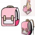 3D Jump Style 2D Drawing From Cartoon Paper Shoulder Bag Backpack Bookbag