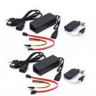 2X USB 2.0 to IDE SATA S ATA 2.5 3.5 HD HDD Drive Adapter Converter Cable