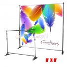 New 8 x8 Step and Repeat Banner Stand Adjustable TelescopicTrade Show Backdrop Y