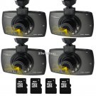4Set 1080P 2.7 HD LCD Lens Car Dash Camera Video DVR Cam Recorder Night Vision Y