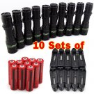 10x Tactical 5000LM Rechargeable T6 LED Flashlight Torch18650 Battery  Charger