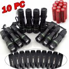 10x5000LM Tactical Rechargeable T6 LED Flashlight Torch 18650 Battery Charger