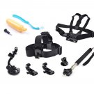 9in1 Head Chest Monopod Pole Mount Accessories For GoPro 2 3 4 Session Camera OU