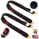 2x Adjustable Seat Belt Car Truck Lap Belt Universal 2 Point Safety Travel UY