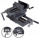 5 Cross Drill Press Vise 2Way X-Y Slide Metal Milling Clamp Machine Heavy DutyS