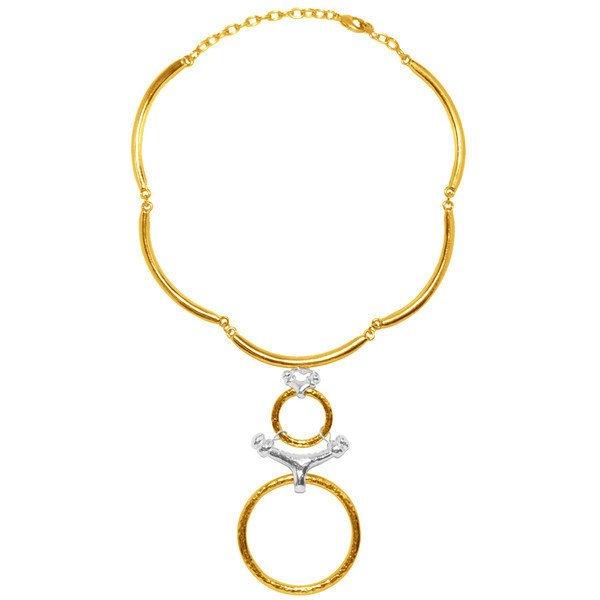 Matte Gold Tribal Chocker Necklace, Karine Sultan