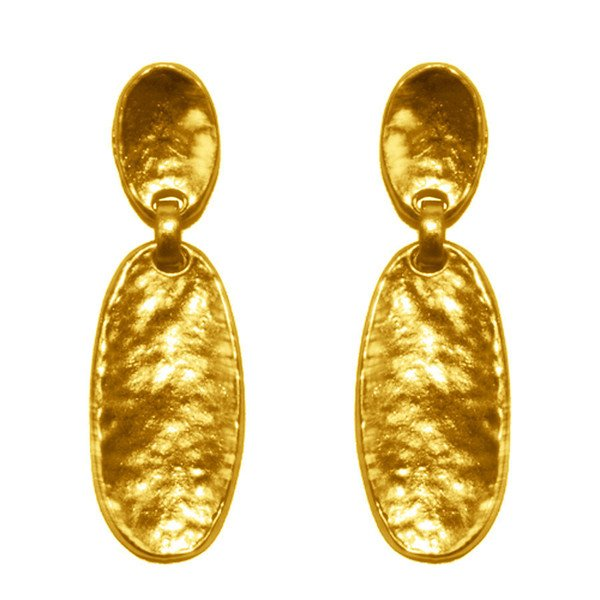 Drop earrings CIARA ,  Two different Ovals