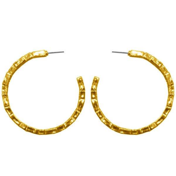 Earrings ALINE, large half hoops, Karine Sultan