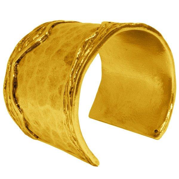 Bracelet ANNE,  Hammered Textured Cuff, Karine Sultan