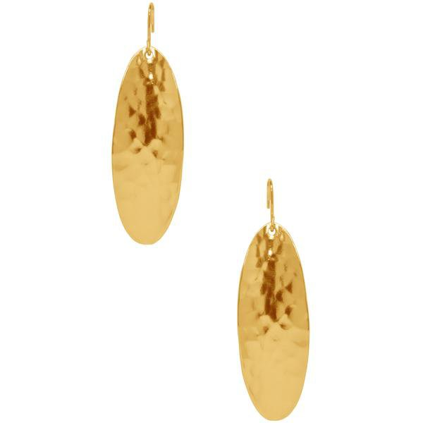The Melodie Hammered Oval Earrings