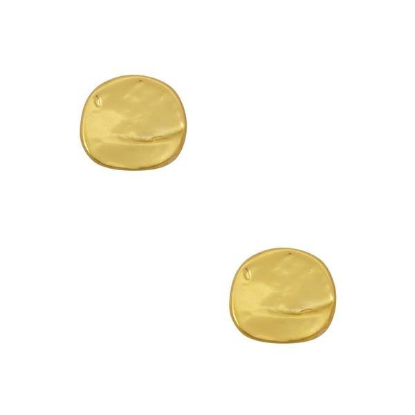 The Bibi Small Textured Medallion Stud Earrings