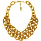 The Lana Chunky Chain Link Collared Bib Necklace