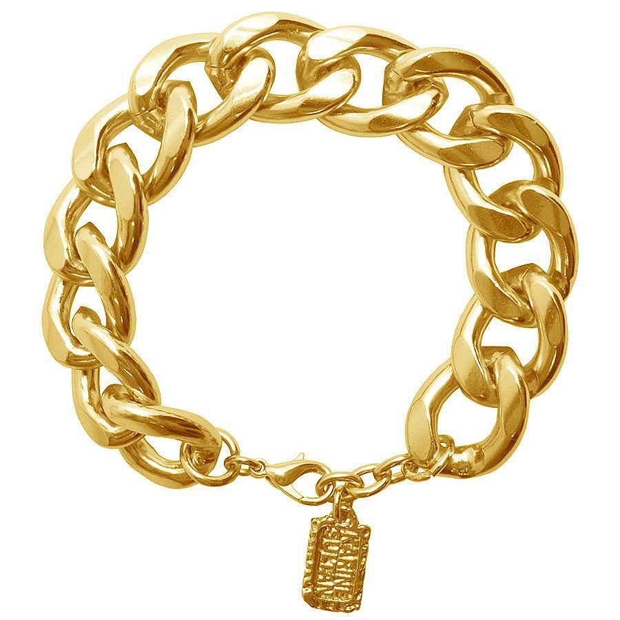 Karine Sultan Thick Lux Chain Link Statement Bracelet