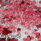 'bleeding heart' glitter mix