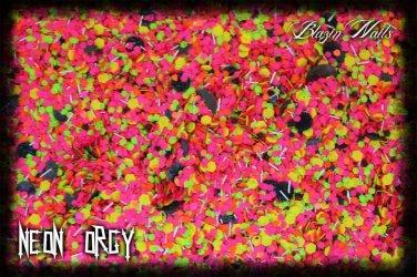 'neon orgy' glitter mix