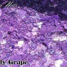 'candy grape' glitter mix
