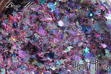 'heart throb' glitter mix
