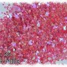 'peach melba' glitter mix