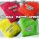 'chunky orange' glitter mix