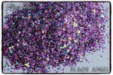 'peace angel' glitter mix