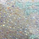 2g glass bubbles iridescent embelishment